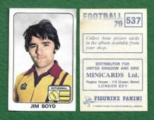 Motherwell Jim Boyd 537